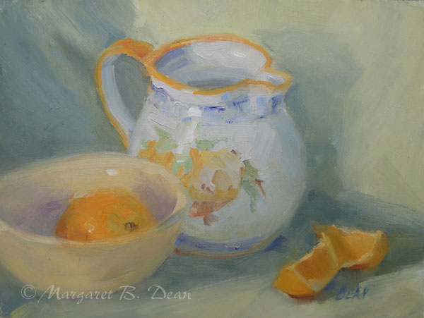 Composition With Oranges Painting by Margaret Dean